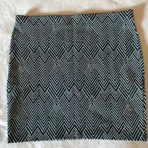 Zara Trafaluc Geometric Knit Mini Skirt